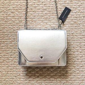 NWT Banana Republic chain crossbody bag in silver
